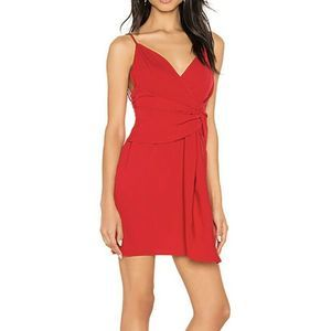 About Us Revolve Naomi Wrap Front Mini Dress Red S